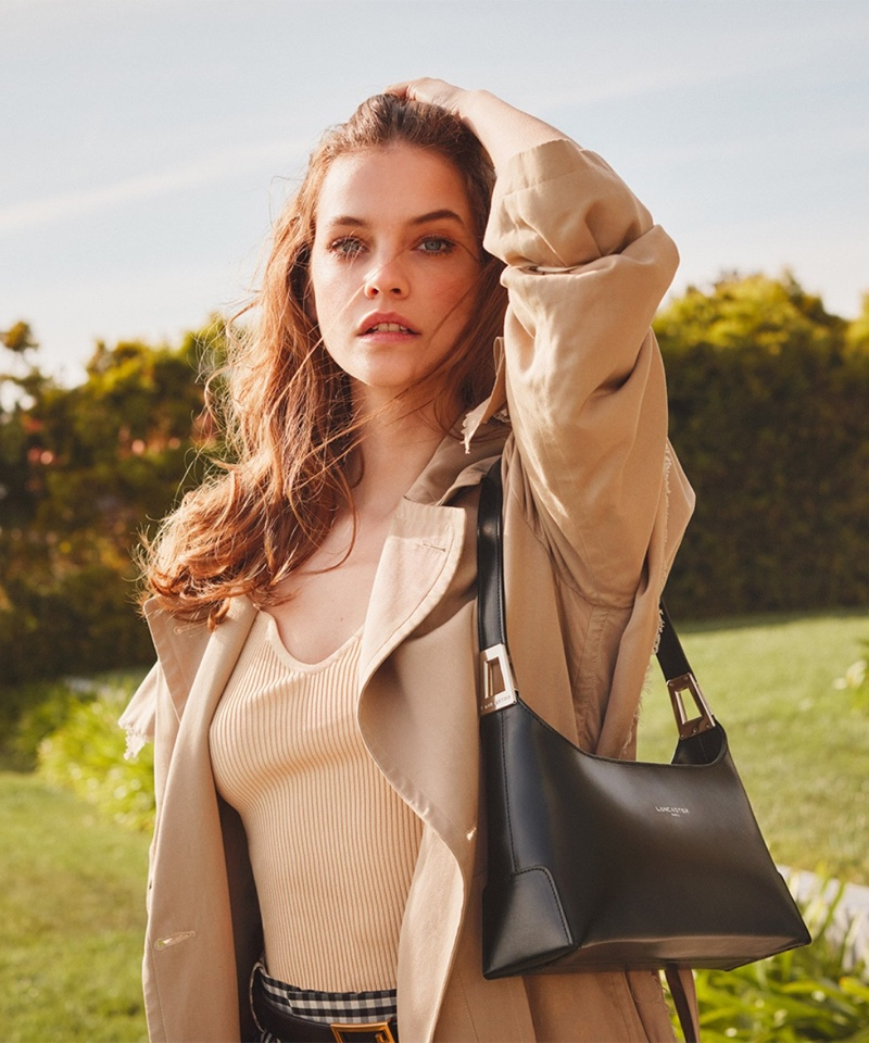 Barbara Palvin poses for the Lancaster Fall/Winter 2021 Campaign