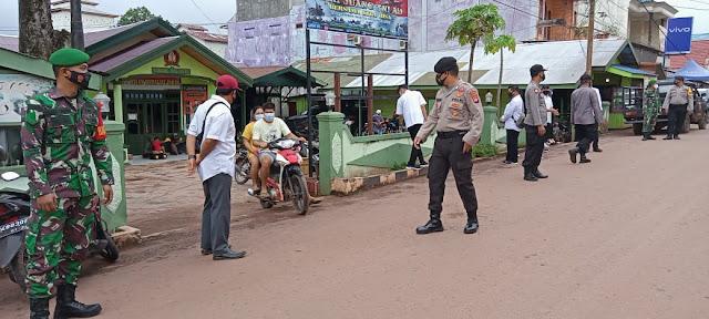 Polsek Parenggean, Koramil 1015-12 dan ASN Parenggean melaksanakan Operasi Yustisi Di Wilayah Kecamatan Parenggean