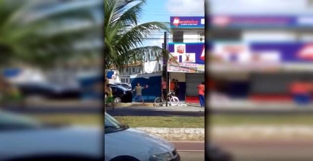Vídeo flagra briga no bairro São Conrado em Aracaju