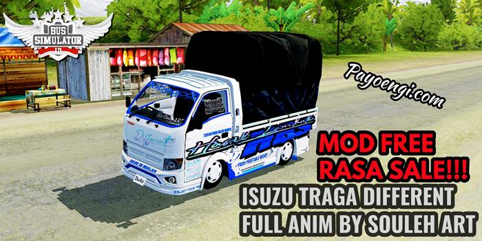 download mod bussid truck isuzu traga different by souleh art