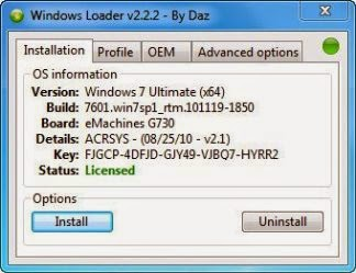 Windows Loader 2.2.2 by Duz - Activating Windows and Microsoft Office with Windows Loader