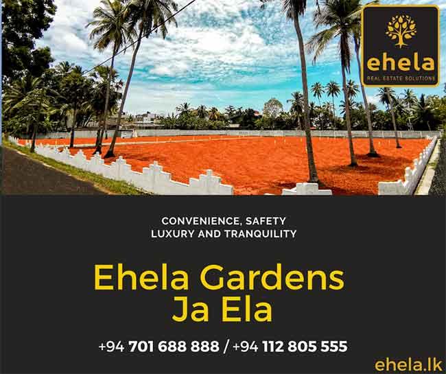 Ehela Gardens Ja-Ela Lands for Sale.