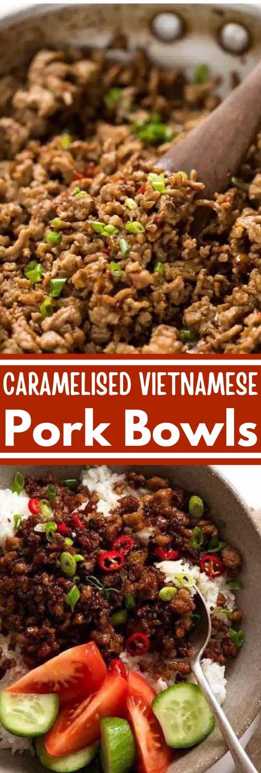 Vietnamese Caramelised Pork Bowls #dinner #easy #asian #recipe #lunch