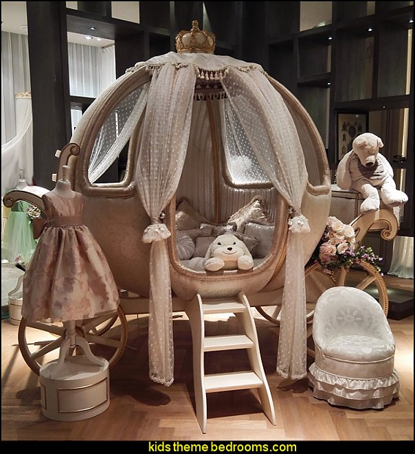 Luxury Fairy Tale Style Pumpkin Shape theme bed princess bedroom furniture