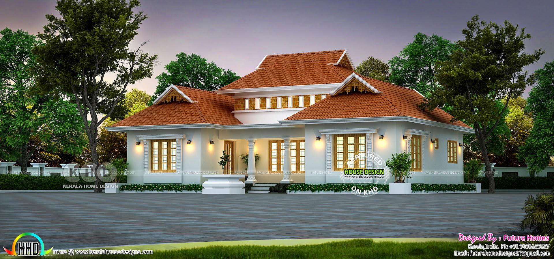 1250 Sq Ft Outstanding Traditional Kerala Home Kerala Home