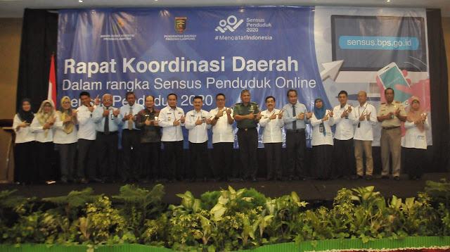 BPS Prov. Lampung Mengadakan Rapat Koordinasi Daerah (Rakorda) Dalam Rangka Mensukseskan Sensus Penduduk Online Tahun 2020