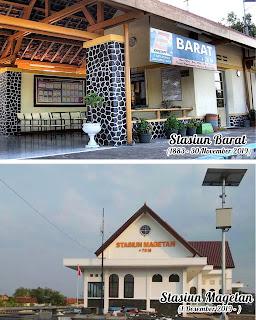 Stasiun Barat dan kini menjadi stasiun Magetan dekat rumah ibu Titim Matun Nasriyah