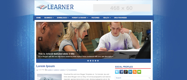free responsive blogger template for education