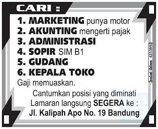 Lowongan Kerja di Kota Bandung