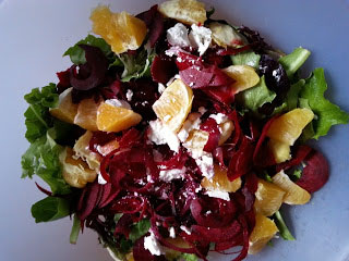 Orange, Beet and Goat Cheese Salad