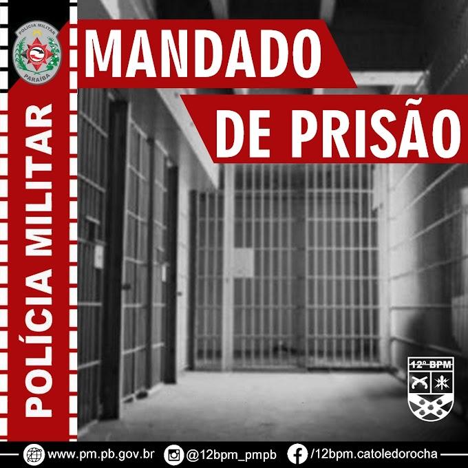 POLÍCIA MILITAR PRENDE EM BREJO DOS SANTOS, FORAGIDO DA JUSTIÇA SUSPEITO DE PRATICAR ROUBO