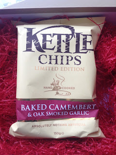 kettle chips camembert and oak smoked garlic