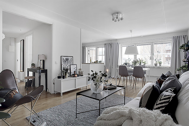 Elegant and interesting scandinavian interior