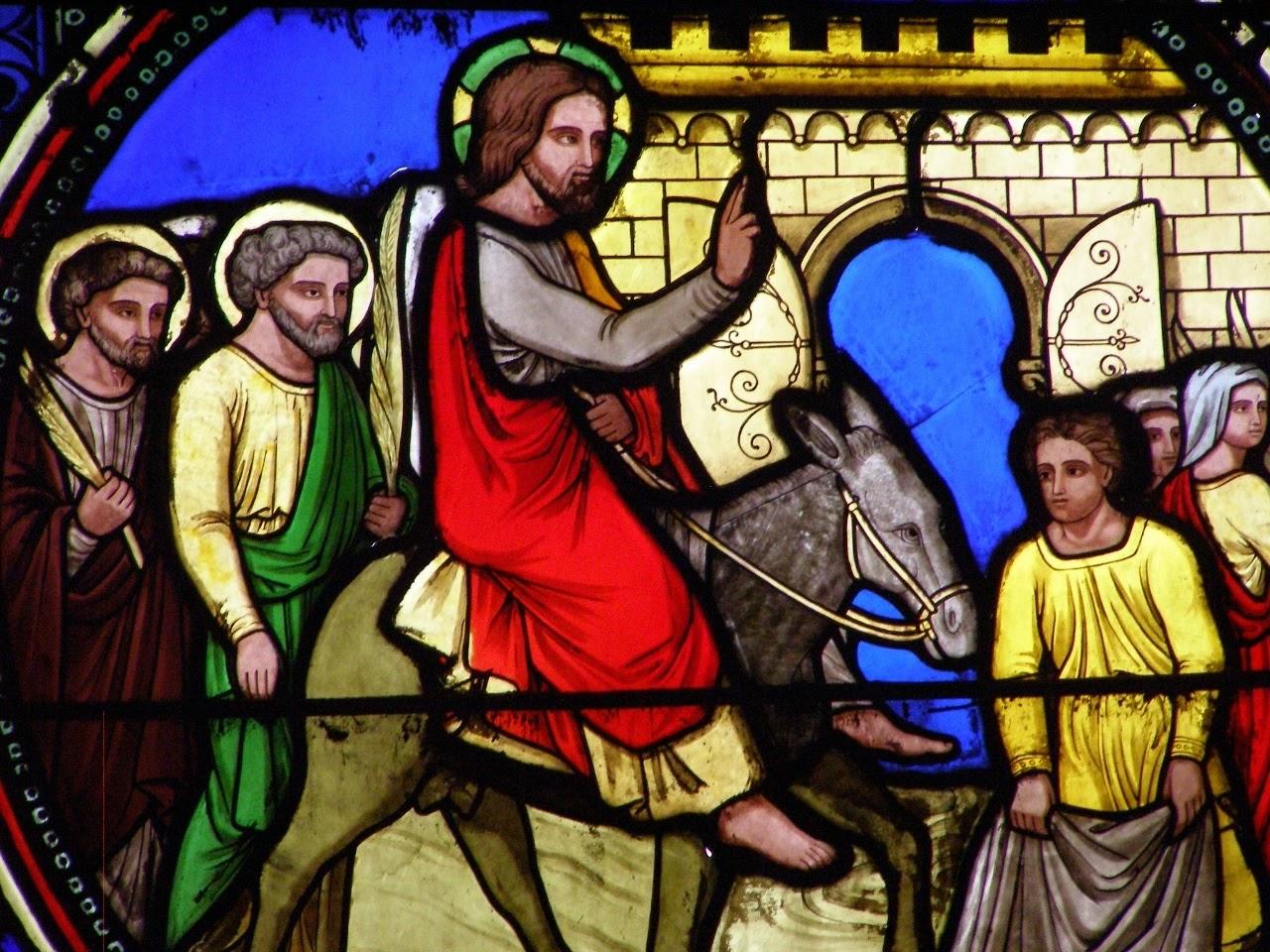 Collégiale de Montbrison, entrée de Jésus à Jérusalem ©Défrade