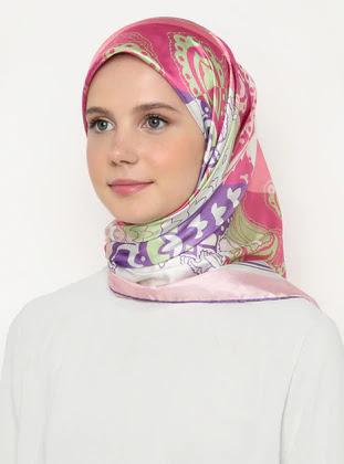 Pink Printed Scarves