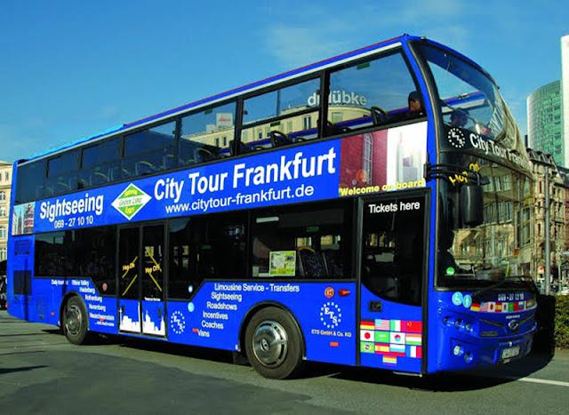 Ônibus turístico de Frankfurt