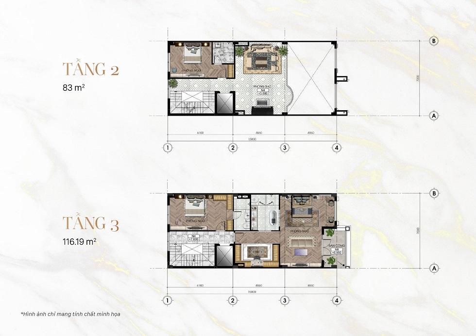 Tầng 2 và 3