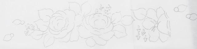 ramo de rosas  pintura risco
