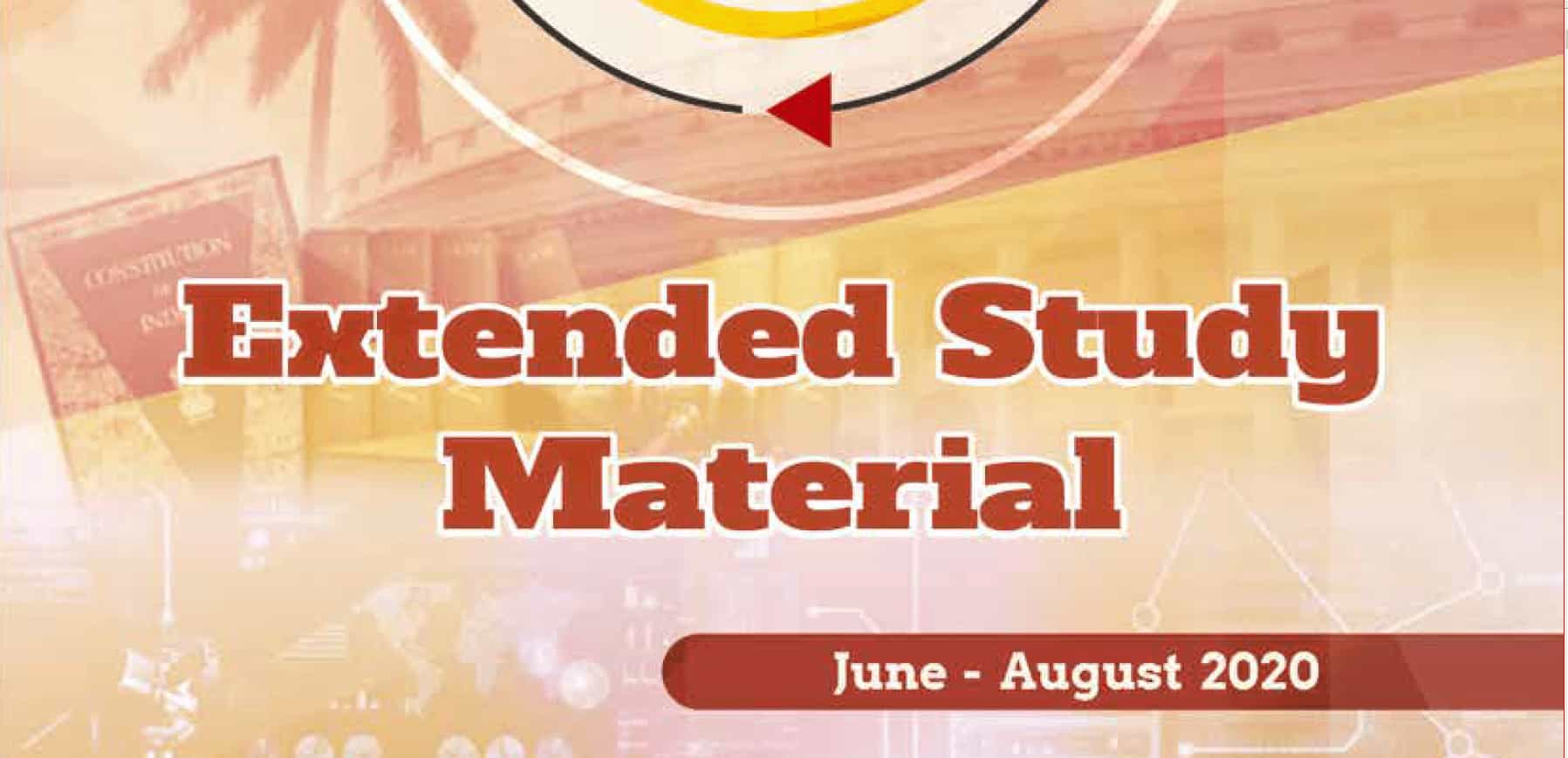 Vision IAS Extended classroom study material Current Affairs June to August 2020