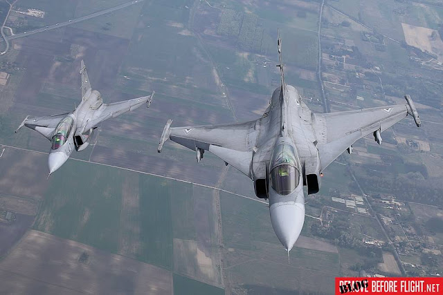 Hungarian Gripens intercept twenty-eight aircraft