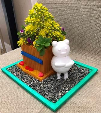 Teddy Bear Planter Pot