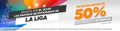 Kirolbet promocion devolucion apuestas liga hasta 8-7-2020