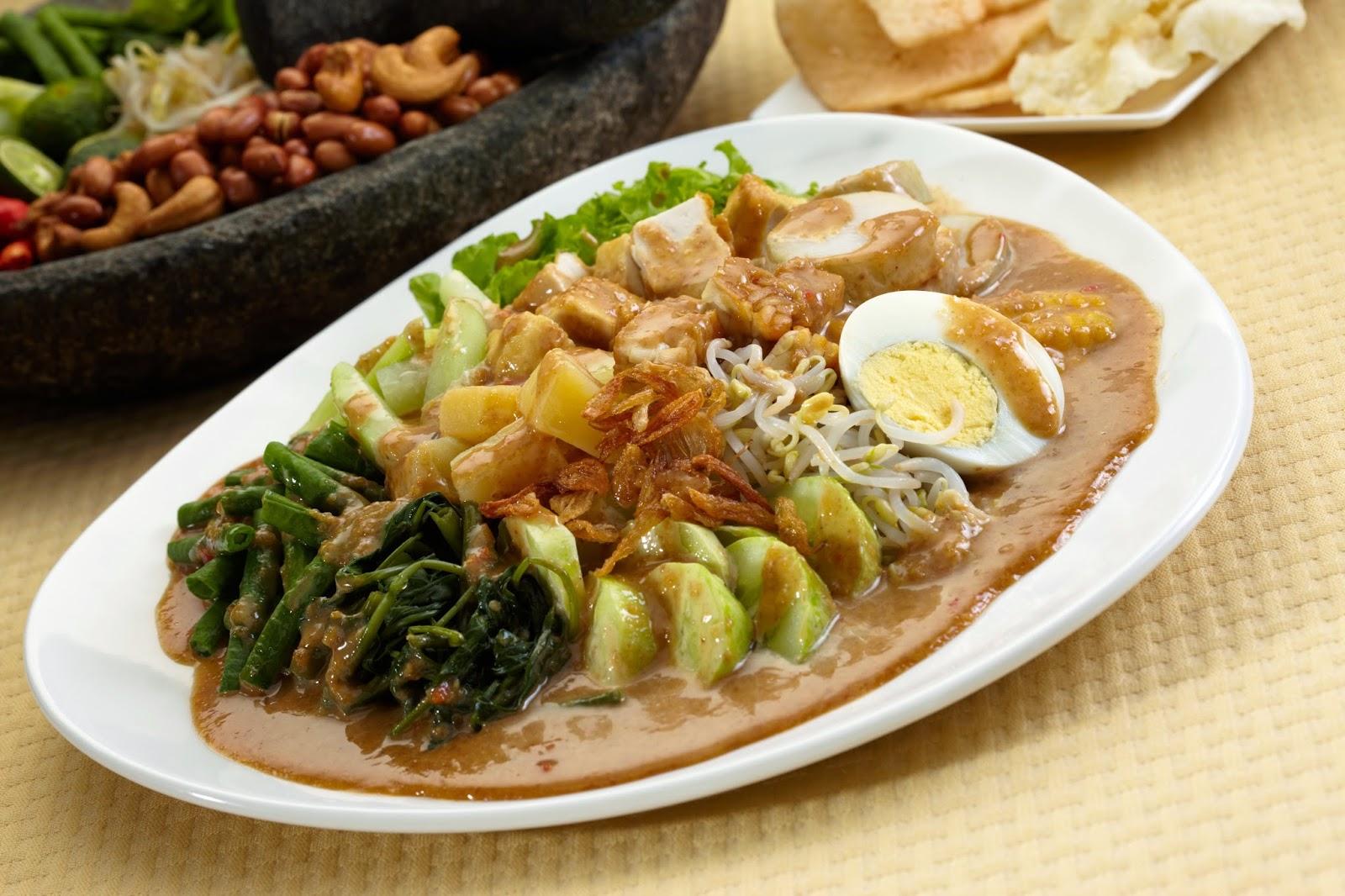Isi Kandungan Gizi Gado-Gado - Komposisi Nutrisi Bahan Makanan