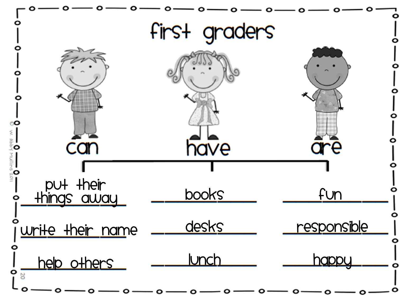 First Grade Charades First Day Fun