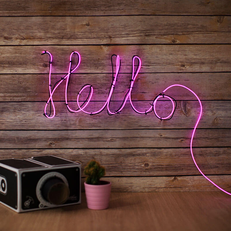 Neon Effect Sign
