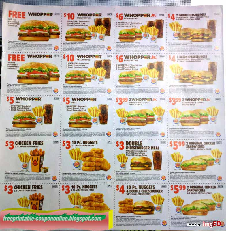 burger king chicken fries coupons 2019