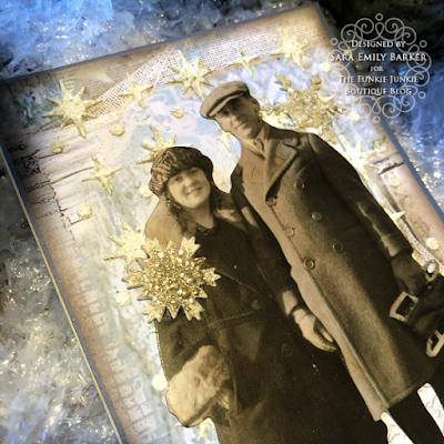 Sara Emily Barker https://sarascloset1.blogspot.com/2019/12/quick-christmas-cards-with-tim-holtz.html Mixed Media Christmas Cards #timholtz #stamperia 7
