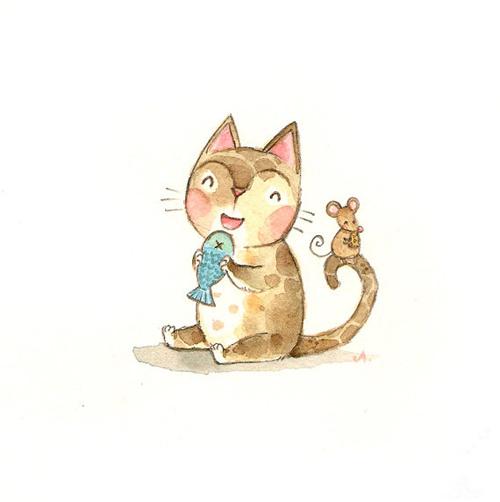 圖片網: 可愛貓咪插畫