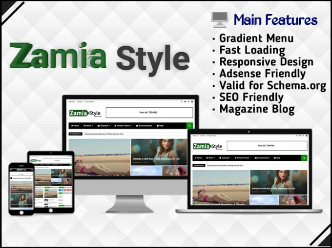Zamia Style Template - Responsive Blogger Template