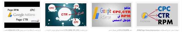 جوجل أدسنس  شرح المصطلحات CTR,CPC,CPM,RPM,Page Views,Impressions