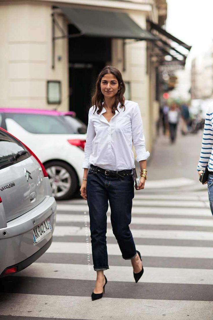 """b973cdbb95 Carolina Herrera, cuja imagem de marca é muito associada à camisa branca,  afirma """"Quando não sei o que vestir, escolho sempre uma camisa branca."""