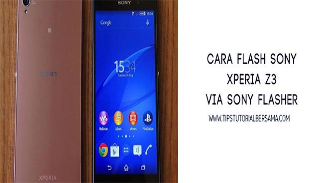 Untuk dapat melakukan flashing pada ponsel Sony Xperia Z3 D6603 dan D6653 bisa dilakukan dengan cara Sony Mobile Flasher versi terbaru dan firmware global.