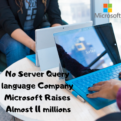 No Server Query language Company Microsoft Raises Almost 11 millions  in Series A funding led by Fidelity Growth Partners Europe with Sunstone Capital, Conor Venture Partners and Rod Johnson, the founder and CEO of SpringSource also participating in the round.