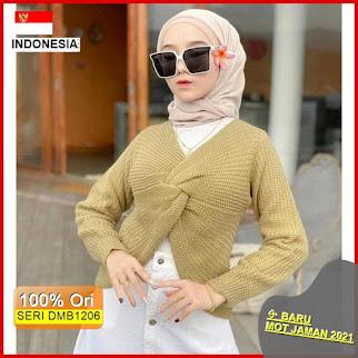 Dmb1206 Fashion Atasan Titiesa Sweater Rajut Hits Ootd Wanita Muslimah