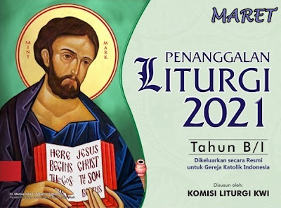 KALENDER LITURGI MARET 2021 TAHUN B/1