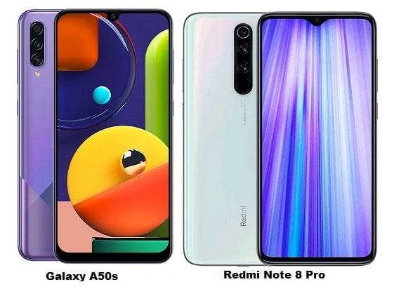 Samsung Galaxy A50s Vs Xiaomi Redmi Note 8 Pro Specs Comparison