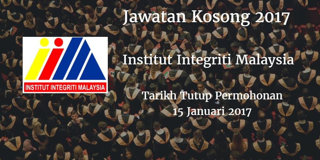 Jawatan Kosong INTEGRITI 15 Januari 2017