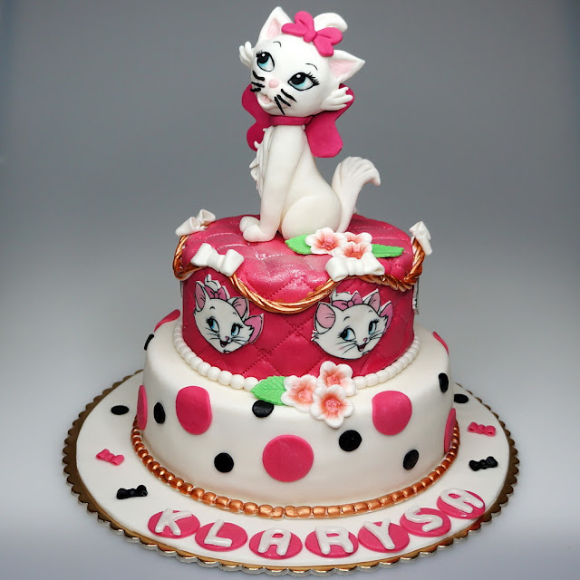 Aristocats Marie Children Birthday Cake - London Cakes