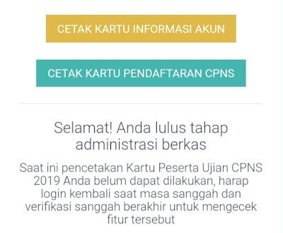 Cara cetak kartu peserta ujian CPNS 2019/2020 - Tes Standar Kompetensi Dasar (SKD)