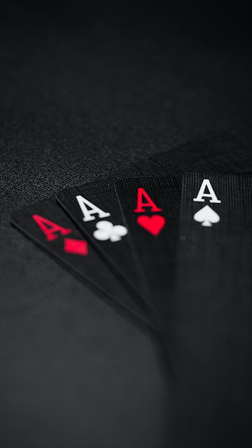 Wallpaper cards, combination, black