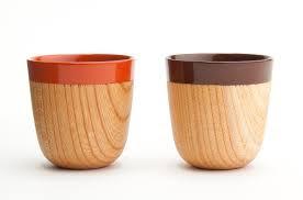 Diseño de taza con céramica y madera