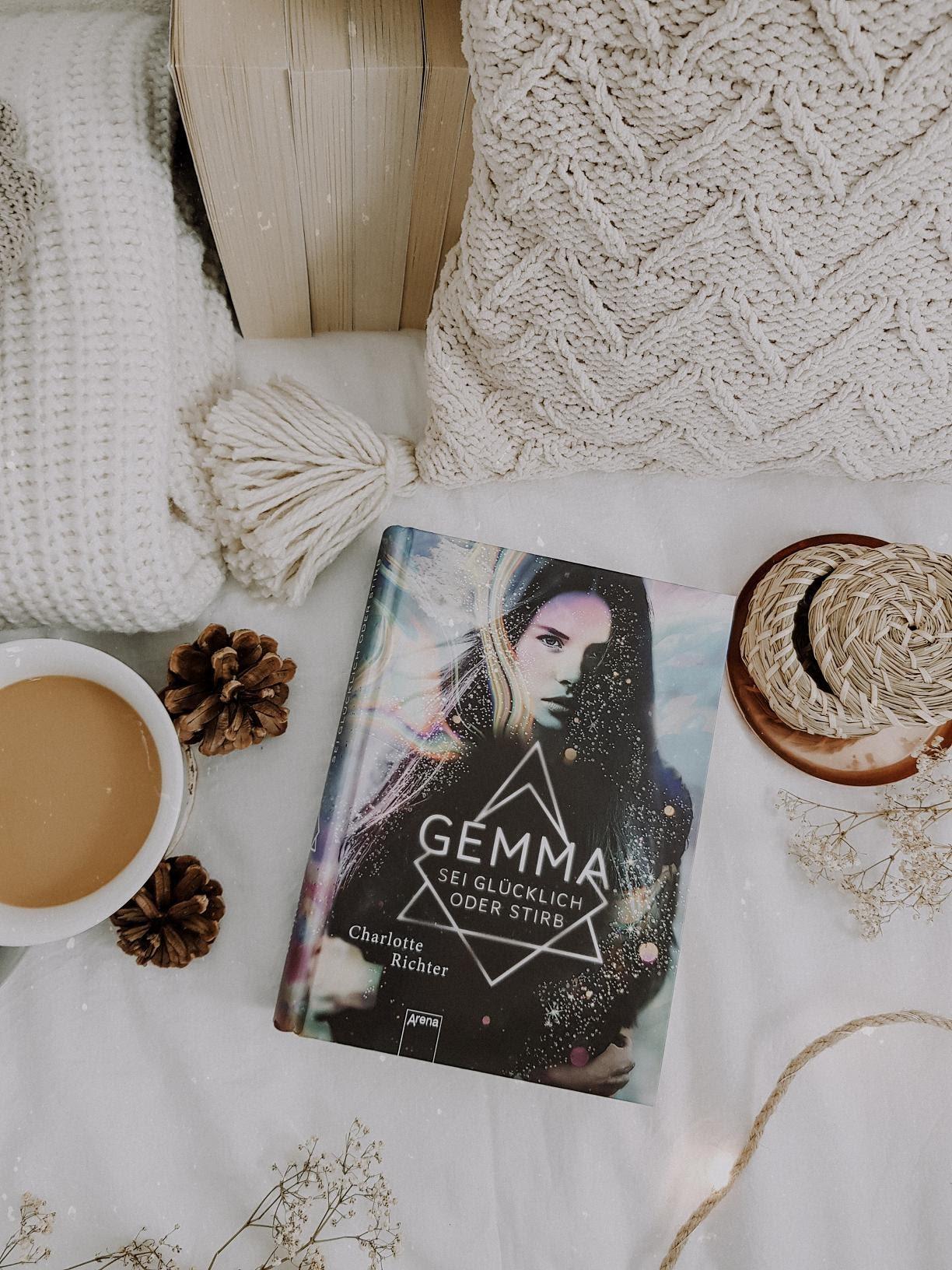 Bücherblog. Rezension. Buchcover. Gemma - Sei glücklich oder stirb von Charlotte Richter. Arena Verlag.