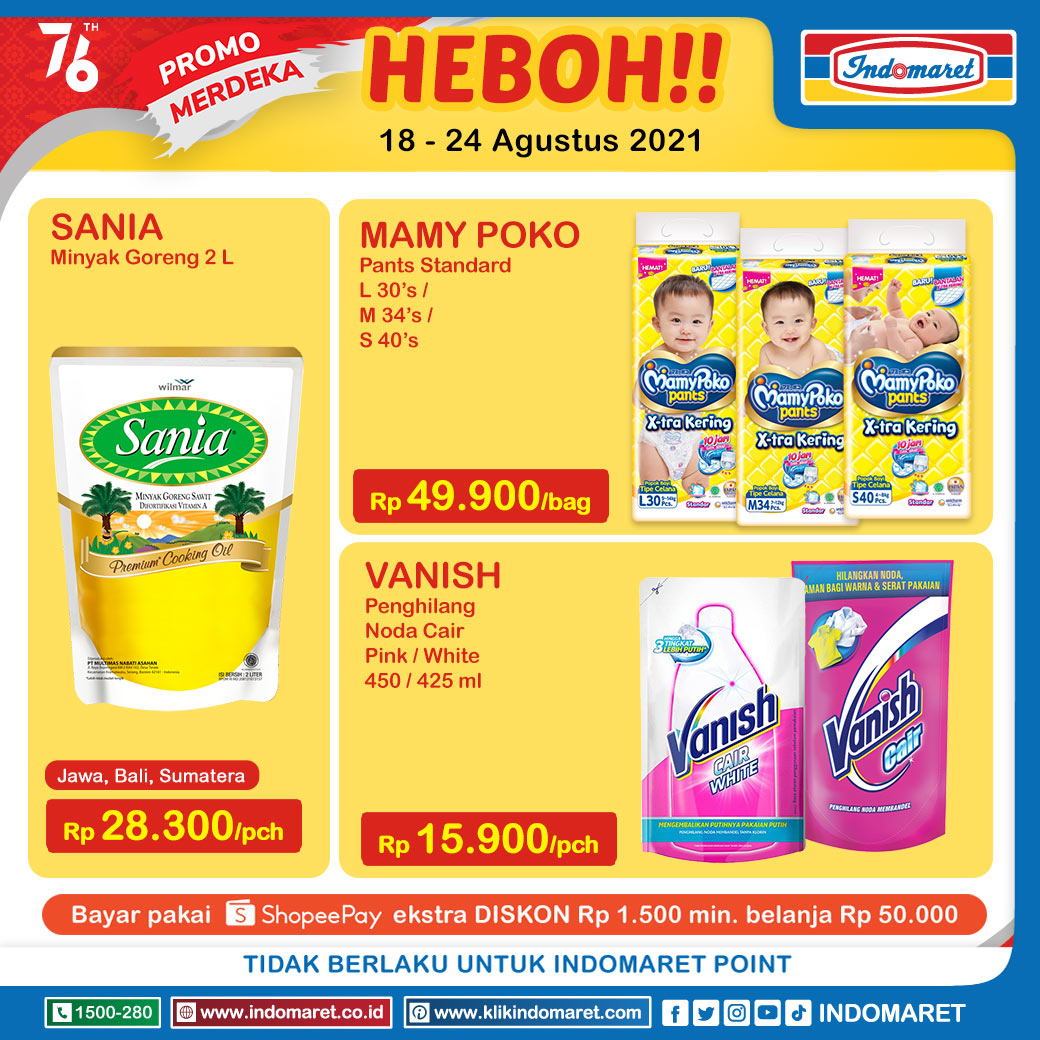 Promo INDOMARET Heboh, Product of The Week 18 - 24 Agustus 2021