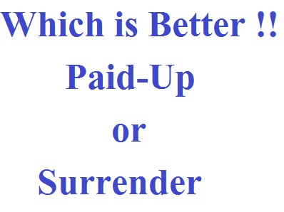Which is better Paid-Up or Surrender? - SAVE TAX SAVE ...