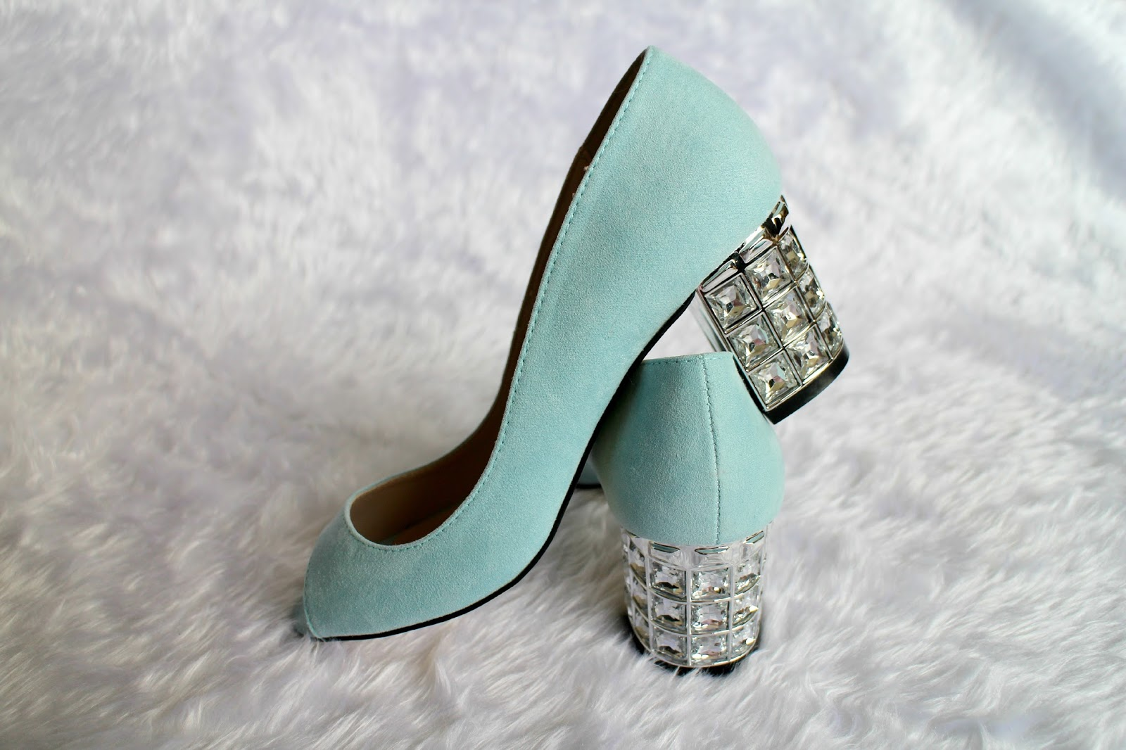 Dorothy Perkins Blue Embellished Heel Shoes