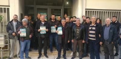 Αντιπροσωπεία της ΛΑ.Ε στους απεργούς του ΟΤΕ στην Καλαμάτα